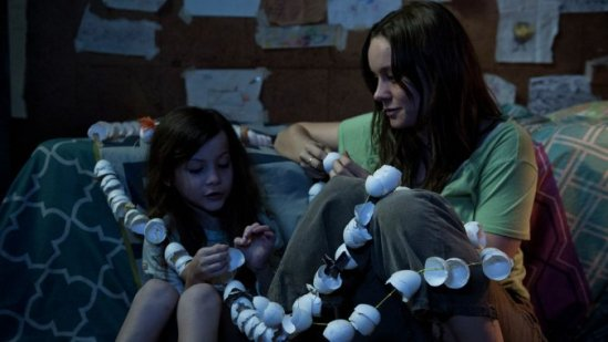 Brie Larson looks at her son 'Jack' in Lenny Abrahamson's Room